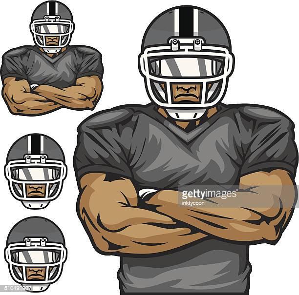 football player - american football player stock illustrations