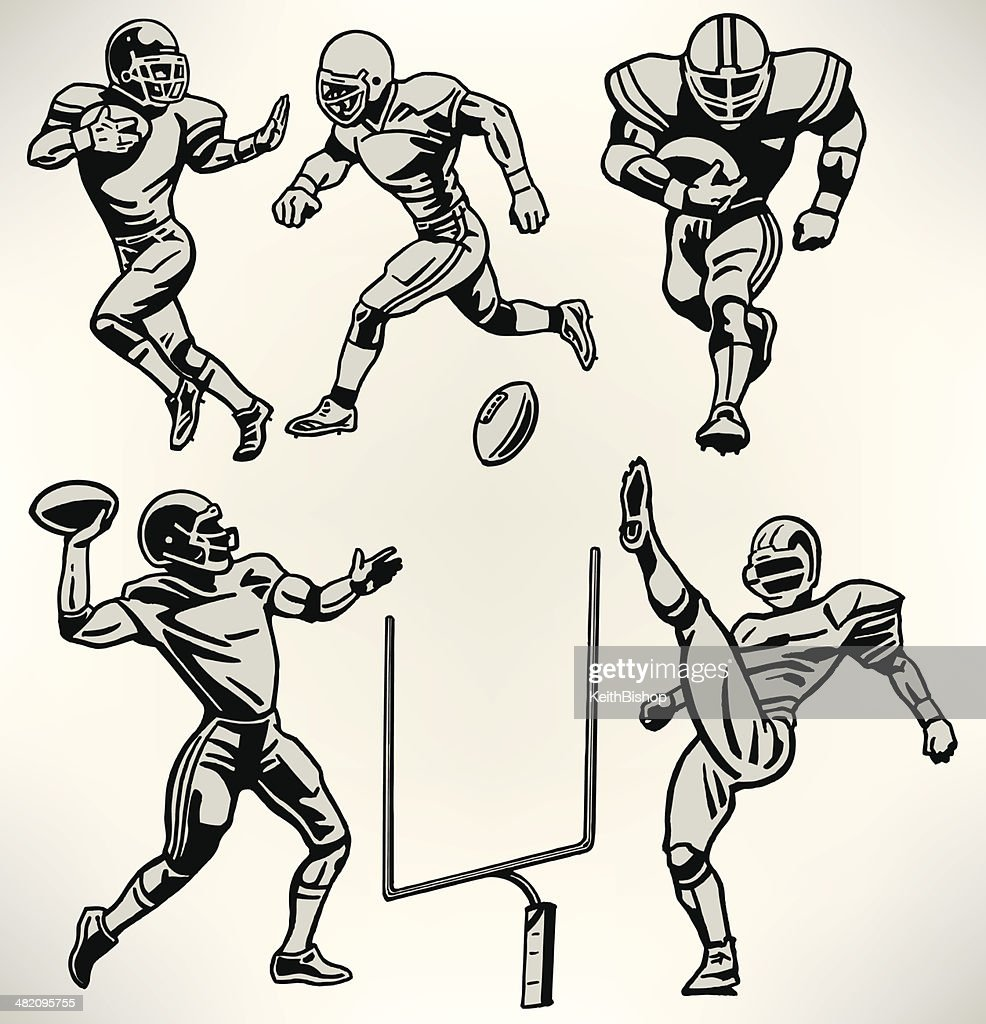 Football Players - Retro Style