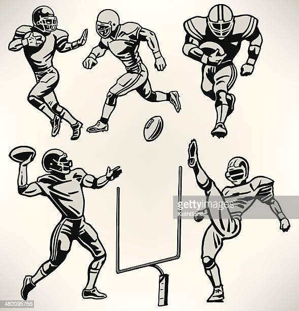 Jogadores de futebol-Estilo Retro