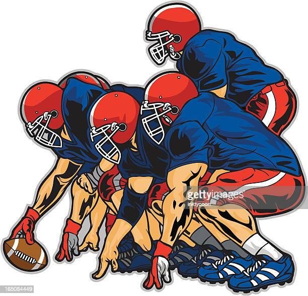 football players - football player stock illustrations, clip art, cartoons, & icons
