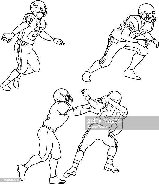 football players - safety american football player stock illustrations, clip art, cartoons, & icons