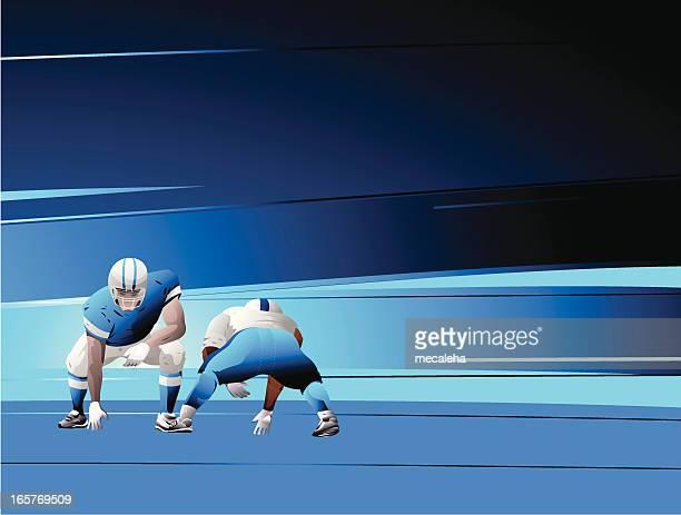 football players - rush american football stock illustrations