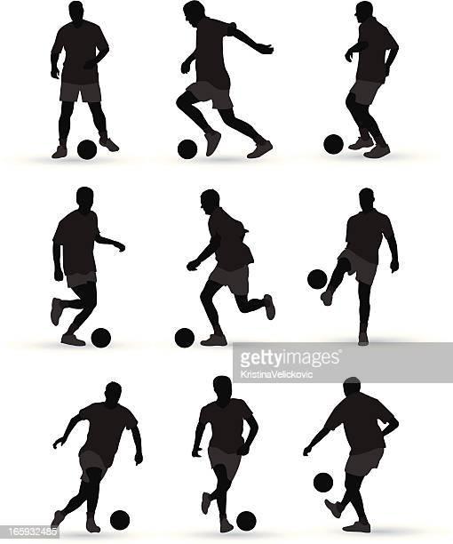 bildbanksillustrationer, clip art samt tecknat material och ikoner med football players - fotbollsspelare