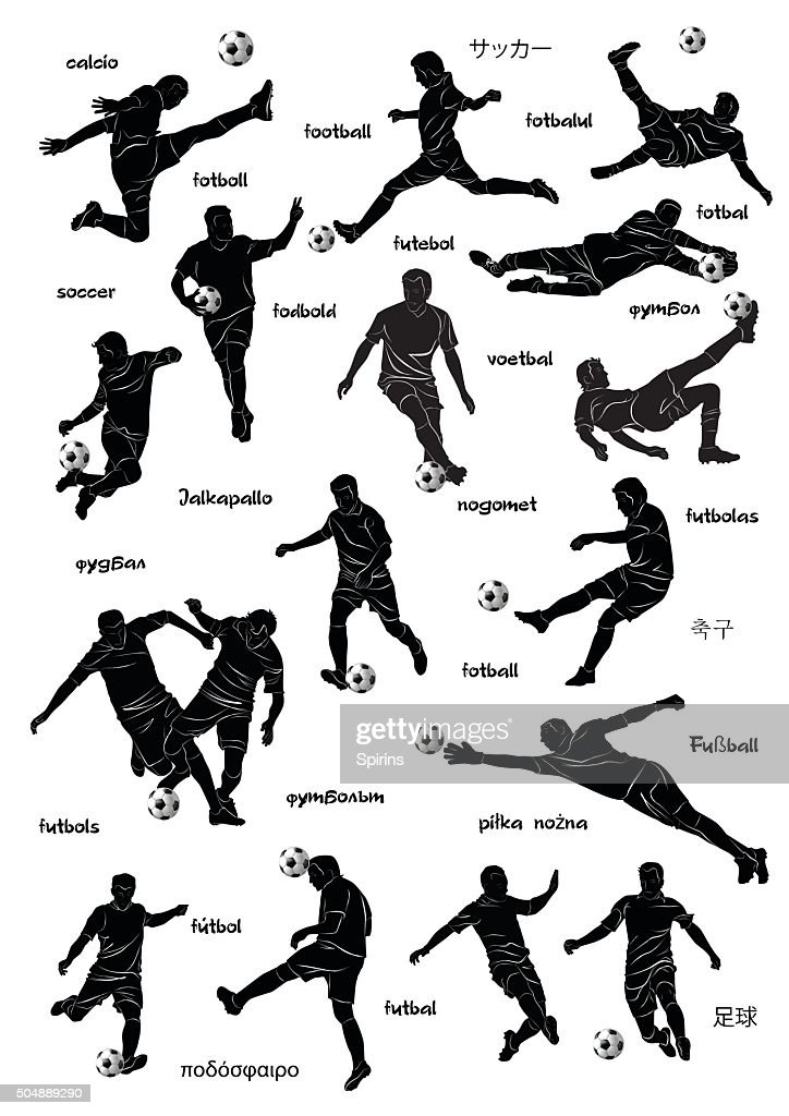 football players with word football in diff languages