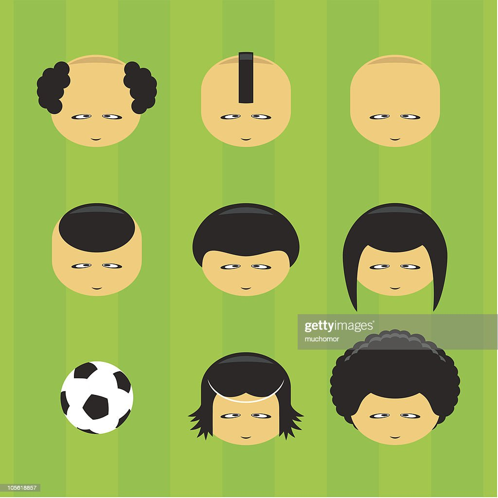 football (soccer) players - yellow faces