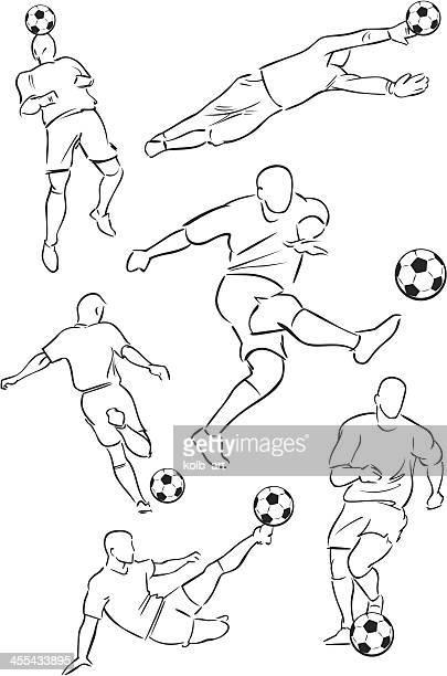 Football playing figures