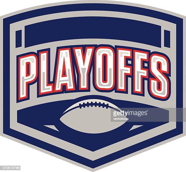 ilustraciones, imágenes clip art, dibujos animados e iconos de stock de eliminatorias logotipo de fútbol americano - eliminatorias