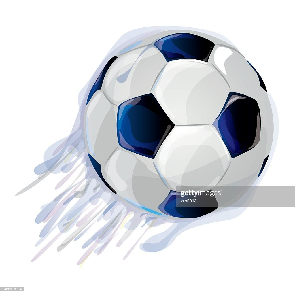 football print with black and white ball