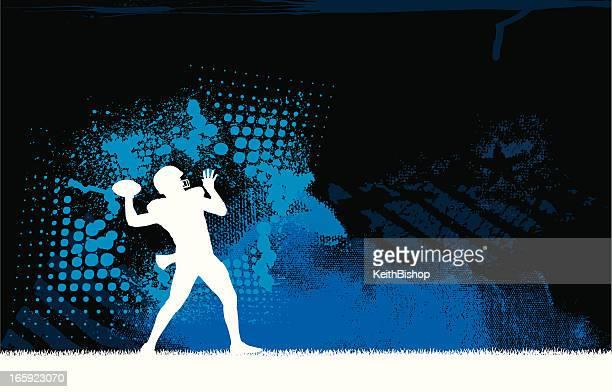 football quarterback background - football league stock illustrations