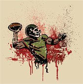 Football Quarterback Grunge Graphic