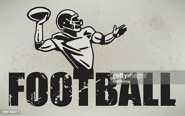 Football Quarterback Retro Style