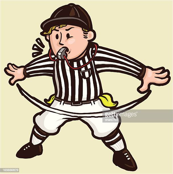 "Football Referee signaling ""No Good"""