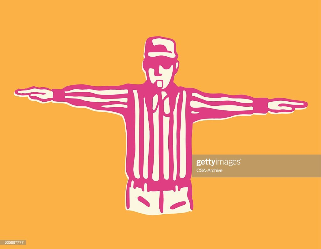 Football Referee : stock illustration