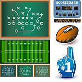 Football royalty free vector Info Graphic interface icon design