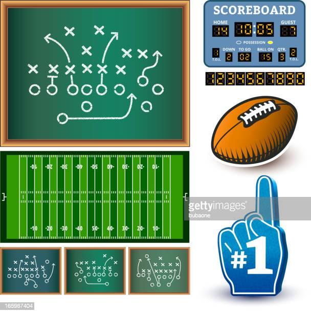 football royalty free vector info graphic interface icon design - football scoreboard stock illustrations