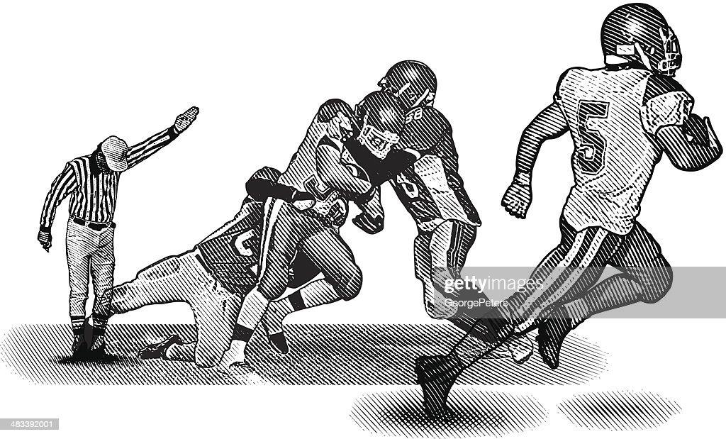 Football Running Back : stock illustration