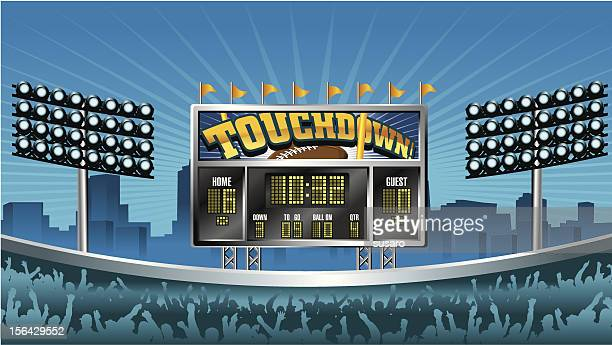 football scoreboard - scoring stock illustrations