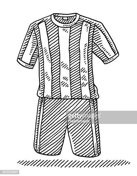 Football Shirt And Shorts Drawing