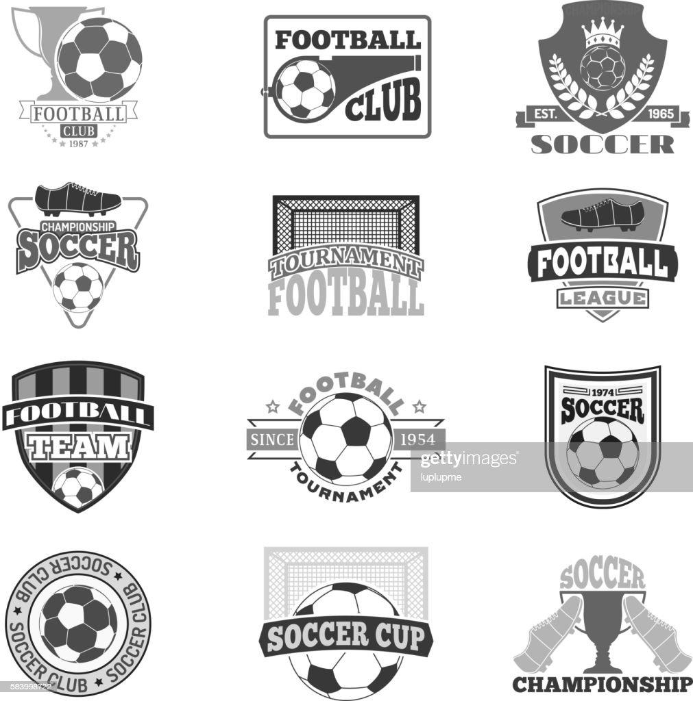 Football sign vector badge