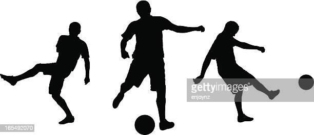 Football-Silhouetten