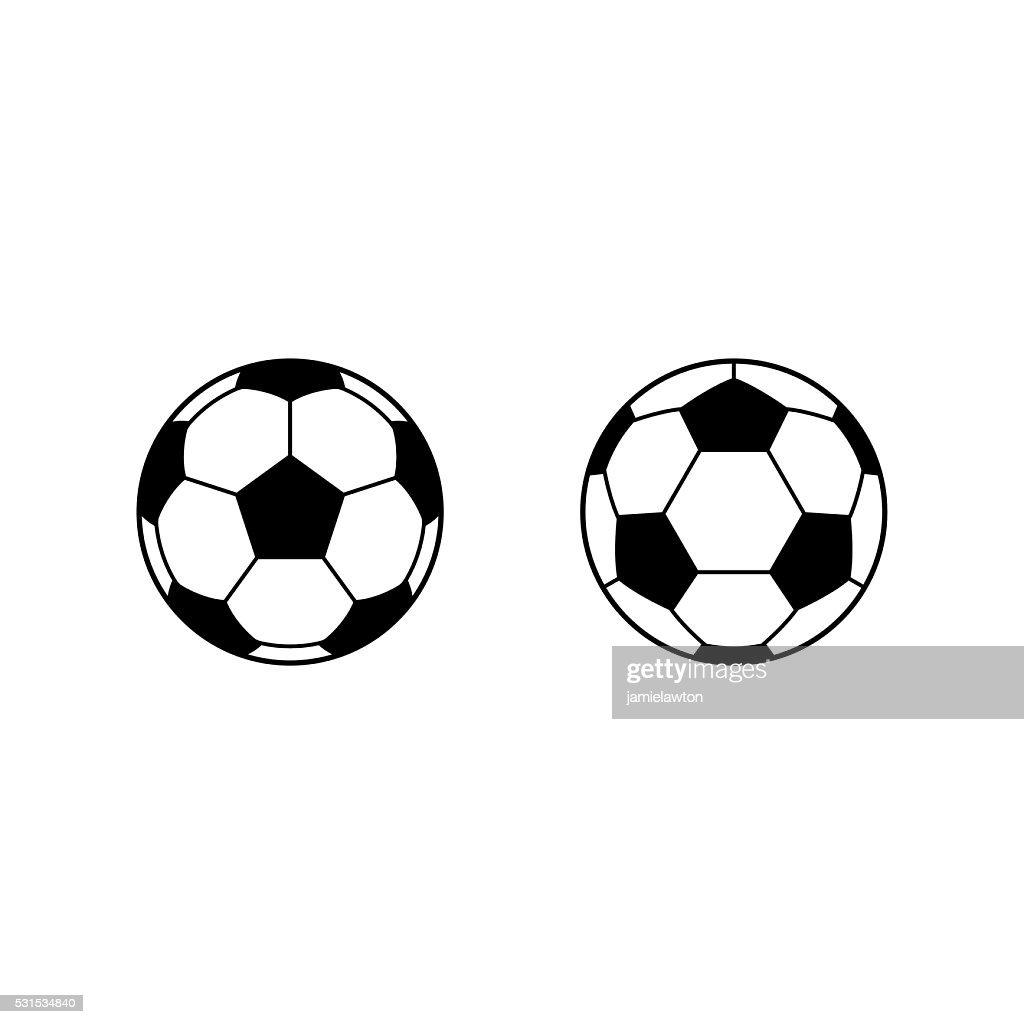 Football, Soccer ball vector icons : stock illustration