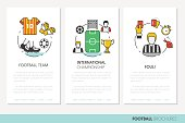 Football Soccer Business Brochure Linear