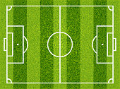 Football, soccer field. Vector