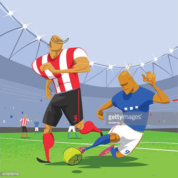 football soccer game - football field stock illustrations, clip art, cartoons, & icons