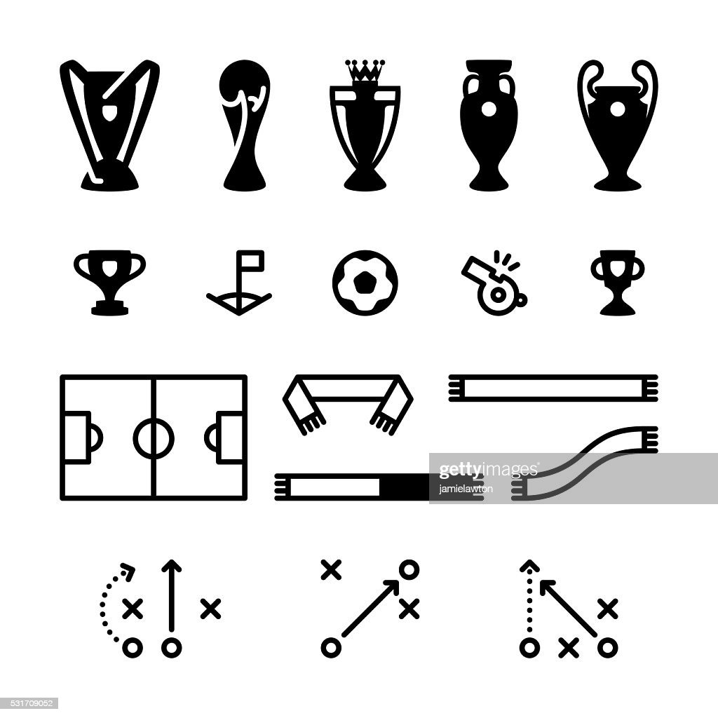 Football Soccer Icon Set