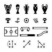 Football Soccer Icon Set