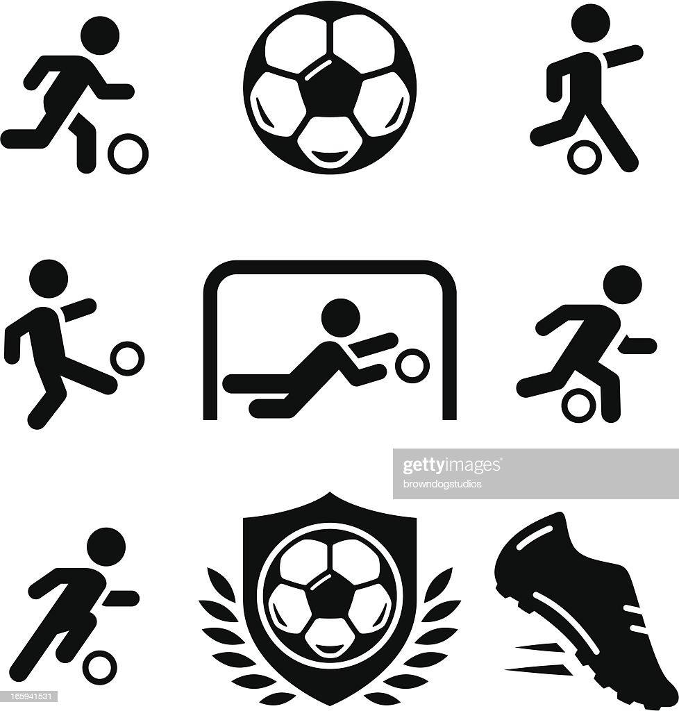 Football / Soccer Icons - Black Series