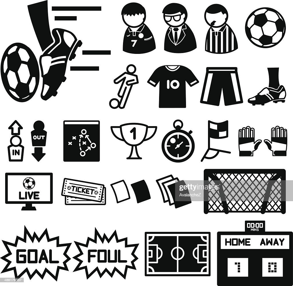 Football soccer icons set