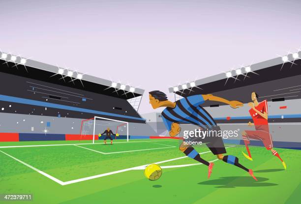 football soccer match - match sport stock illustrations, clip art, cartoons, & icons