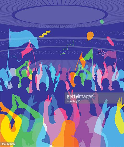 football, soccer or athletics stadium - applauding stock illustrations, clip art, cartoons, & icons