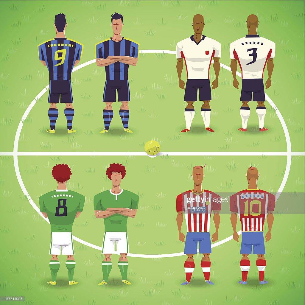 Football Soccer Players : stock illustration
