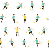 Football soccer players vector