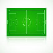 Football, soccer realistic, textured field