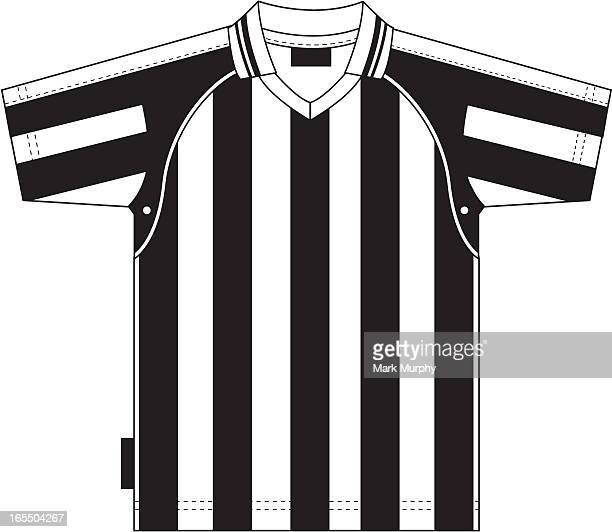 Fußball-Fußball-Shirt gestreift