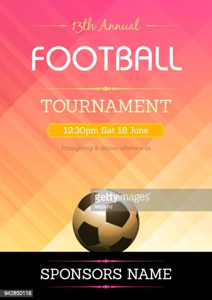 Football, affiche de tournoi de Soccer