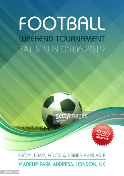 football, soccer tournament poster - soccer competition stock illustrations