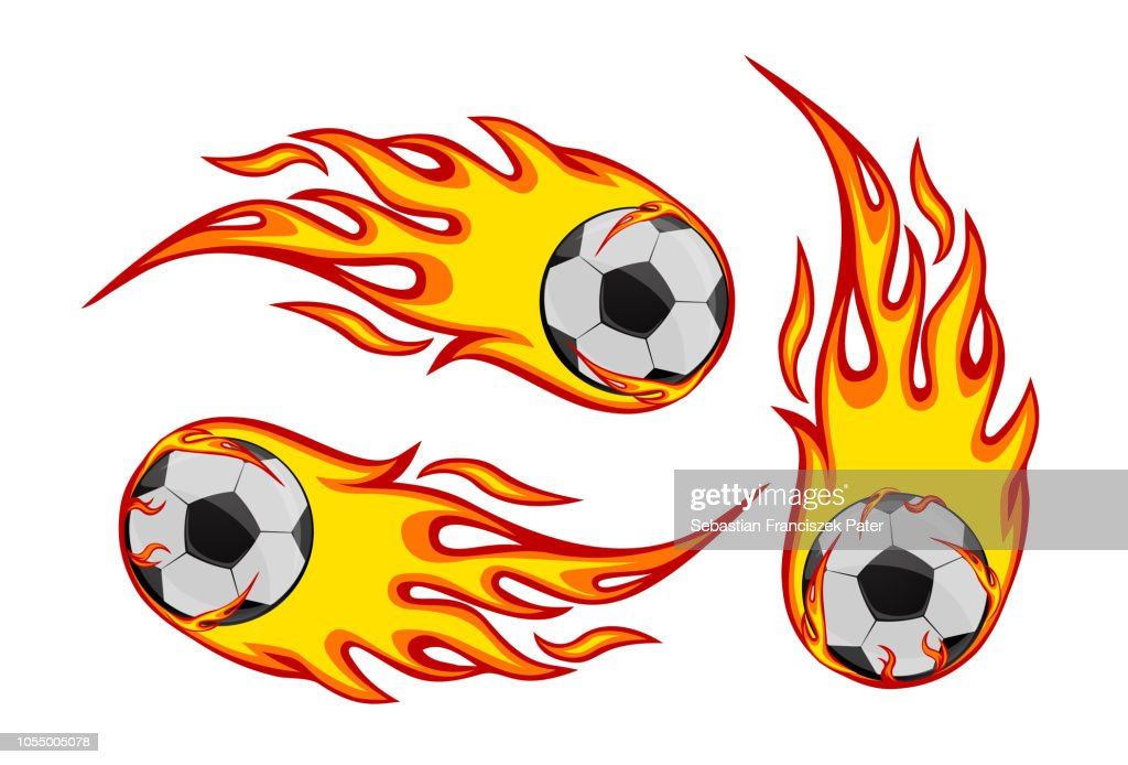 Football Socker on fire