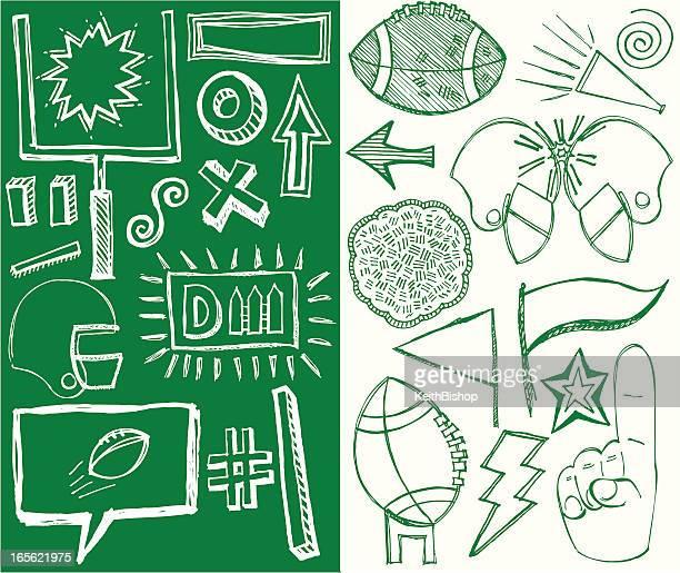 Football Sport Doodles