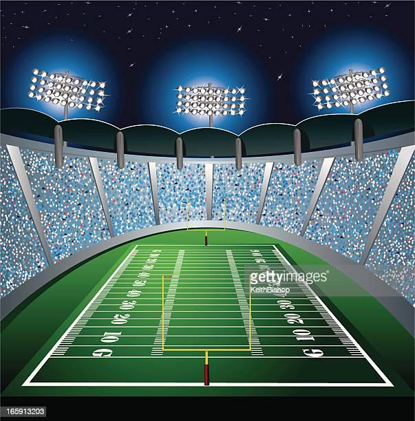 フットボールスタジアムの背景 - アメリカンフットボール場点のイラスト素材/クリップアート素材/マンガ素材/アイコン素材