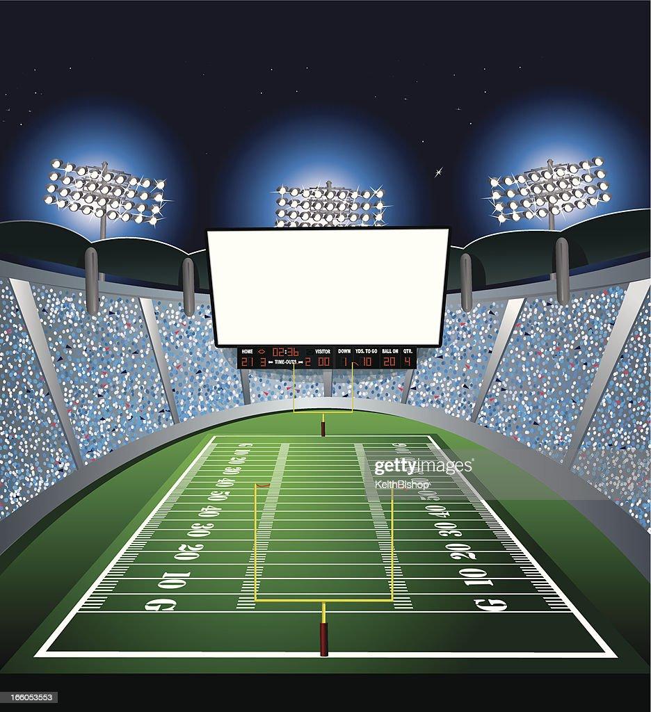 Football Stadium - Jumbotron, Large Scale Screen : stock illustration
