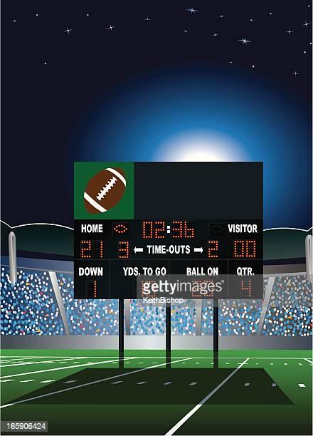 football stadium scoreboard - football scoreboard stock illustrations