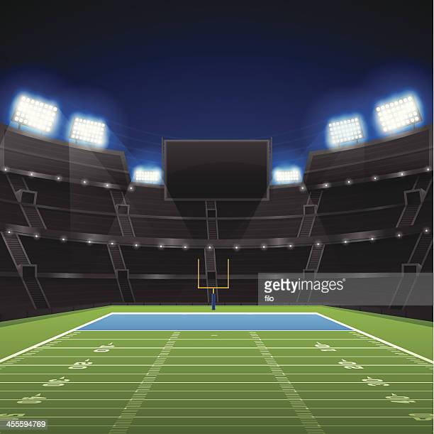 football stadium - football field stock illustrations, clip art, cartoons, & icons
