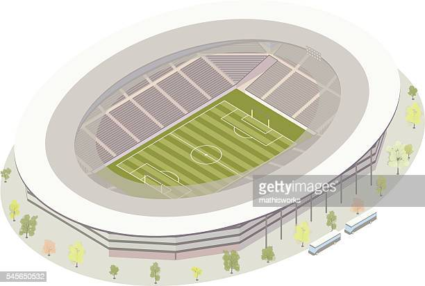 football (soccer) stadium - mathisworks architecture stock illustrations