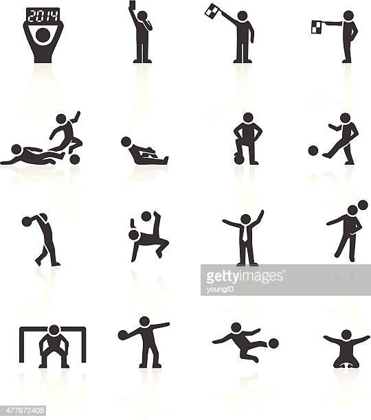 football stickman icons - conversion sport stock illustrations