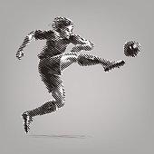 Football striker