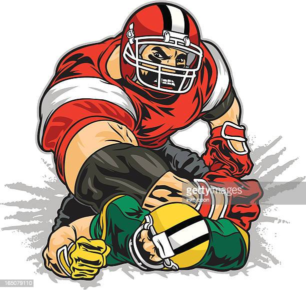 World S Best Tackle American Football Player Stock